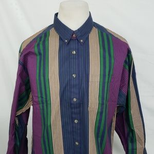 Le Tigre Long Sleeve Striped Button Down Shirt
